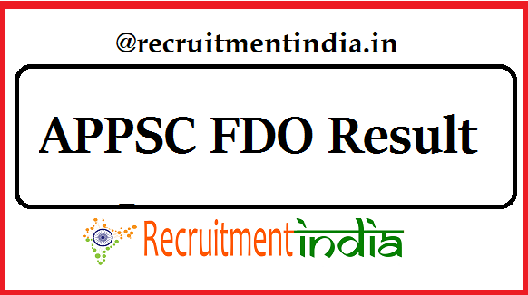 APPSC FDO Result