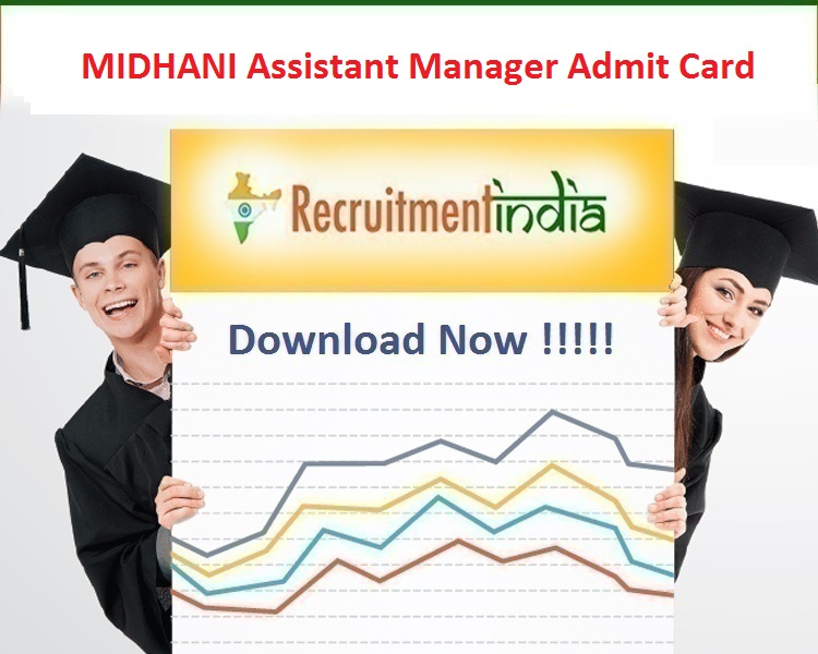 MIDHANI Assistant Manager Admit Card