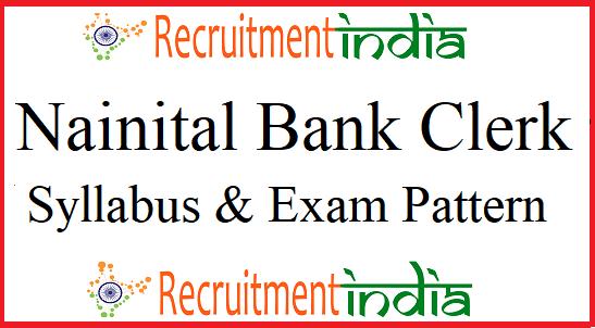 Nainital Bank Clerk Syllabus