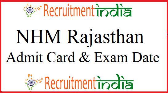 NHM Rajasthan CHO Admit Card