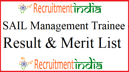 SAIL Management Trainee Result