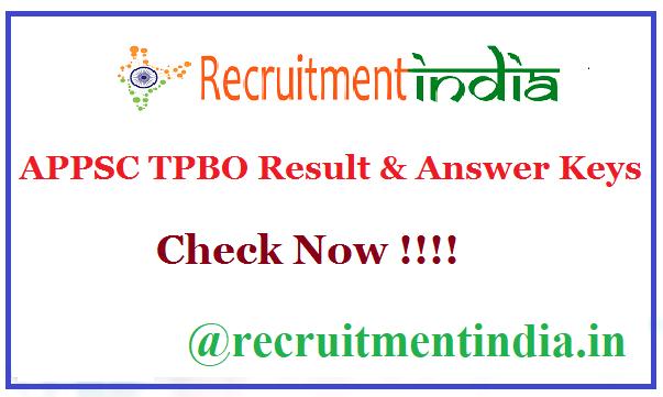 APPSC TPBO Result