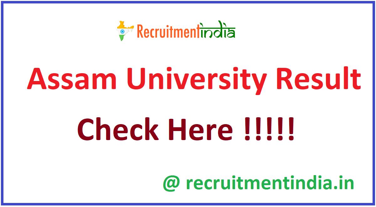 Assam University Result
