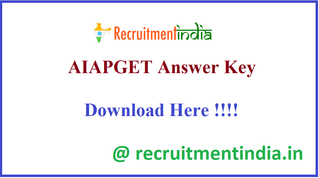 AIAPGET Answer Key