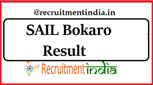 SAIL Bokaro Result