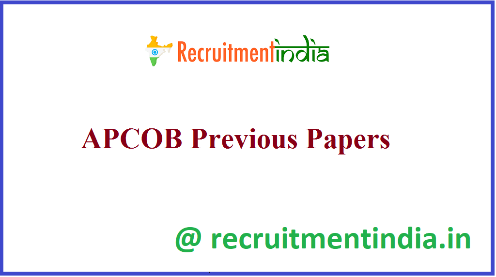 APCOB Previous Papers