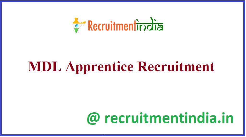 MDL Apprentice Recruitment