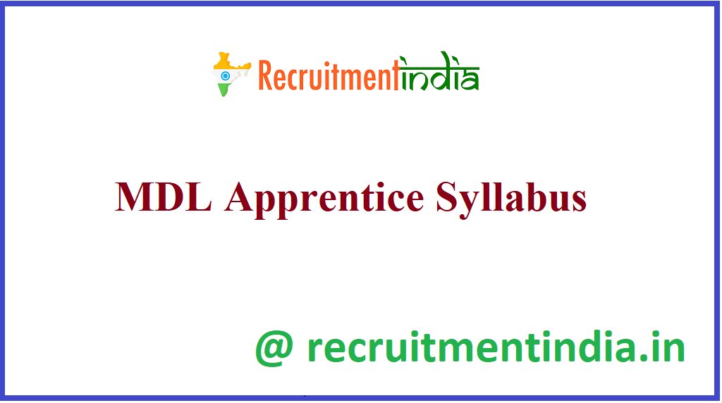 MDL Apprentice Syllabus