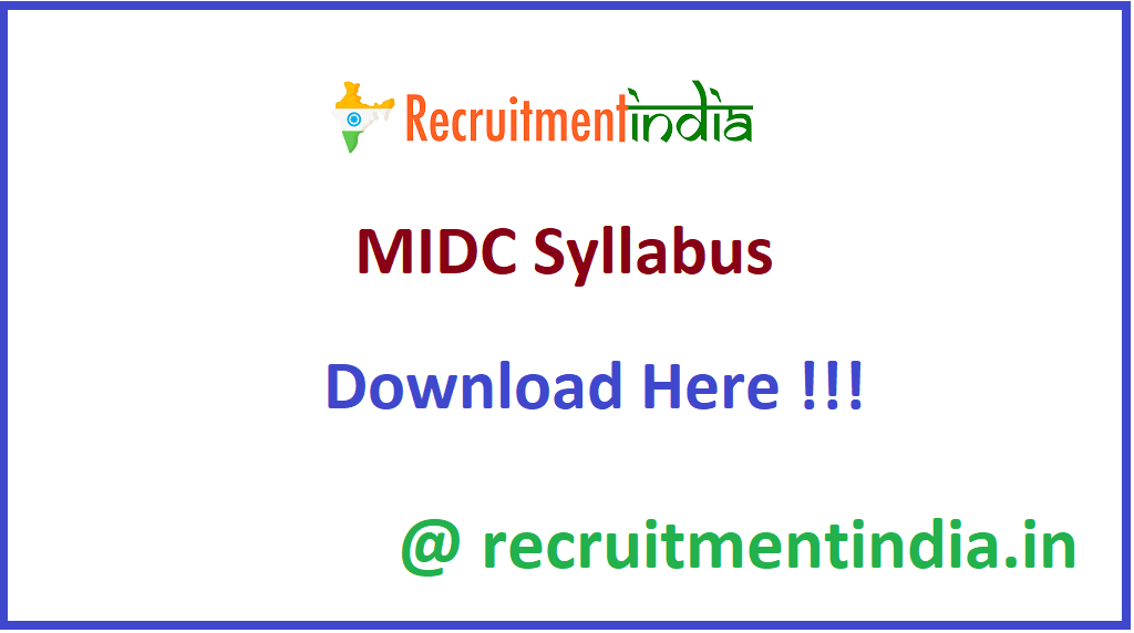 MIDC Syllabus
