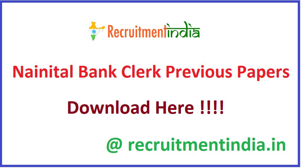 Nainital Bank Clerk Previous Papers