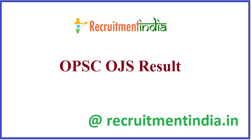 OPSC OJS Result