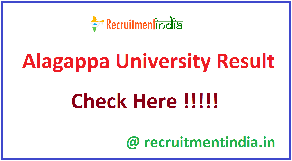 Alagappa University Result