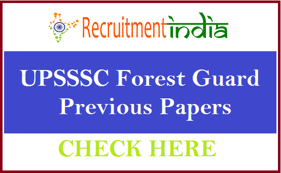 UPSSSC Forest Guard Previous Papers