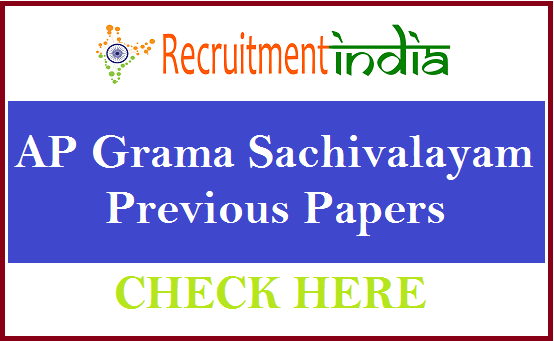 AP Grama Sachivalayam Previous Papers
