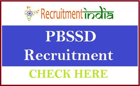PBSSD Recruitment