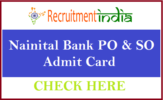 Nainital Bank Admit Card
