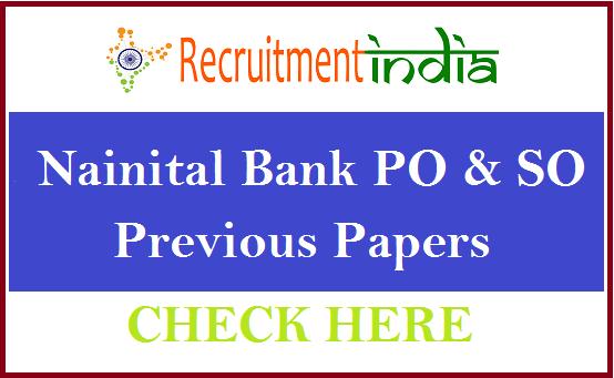 Nainital Bank Previous Papers