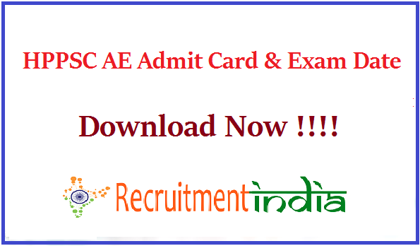 HPPSC AE Admit Card