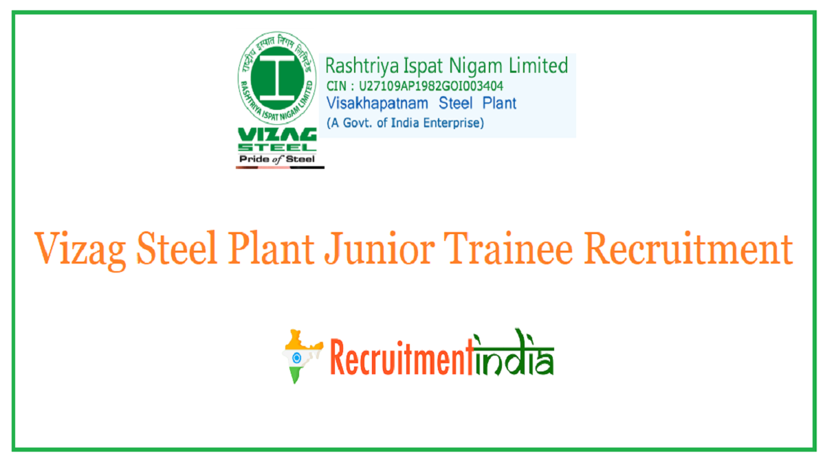 Vizag Steel Plant Junior Trainee Recruitment