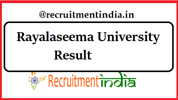 Rayalaseema University Result