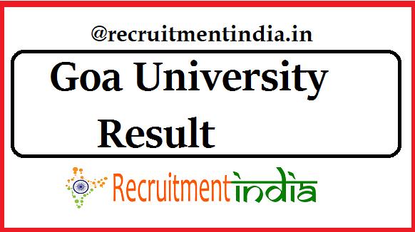 Goa University Result