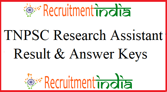 TNPSC Research Assistant Result