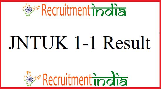 JNTUK 1-1 Result