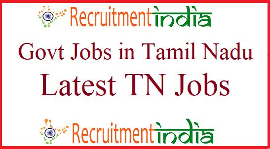 Govt Jobs in Tamilnadu