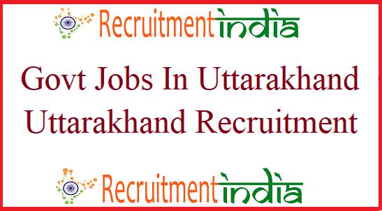Govt Jobs in Uttarakhand 2019-20 | Upcoming Uttarakhand