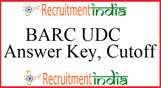 BARC UDC Answer Key