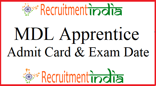 MDL Apprentice Admit Card