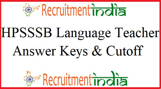 HPSSSB Language Teacher Answer Key