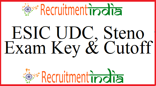 ESIC UDC Answer Key
