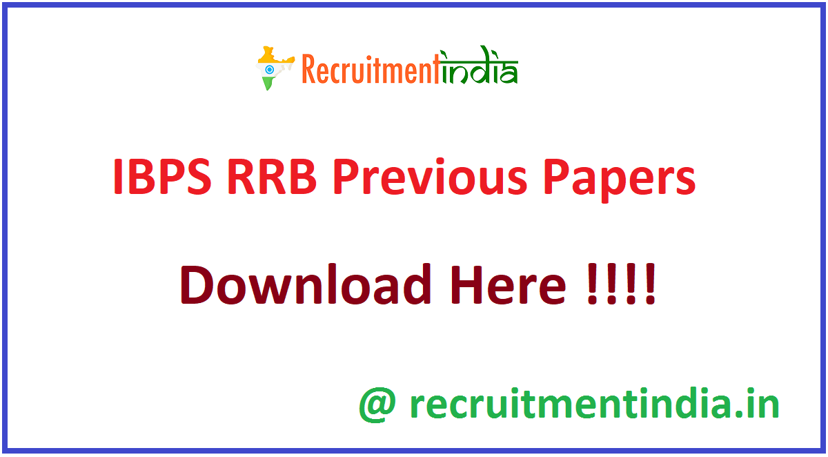 IBPS RRB Previous Papers