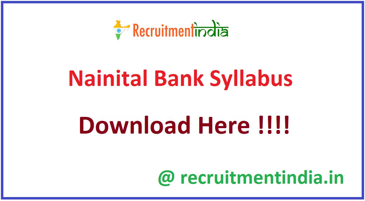Nainital Bank Syllabus