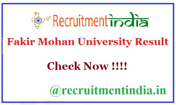 Fakir Mohan University Result