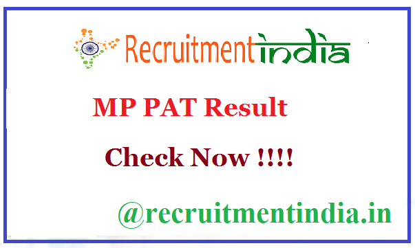 MP PAT Result