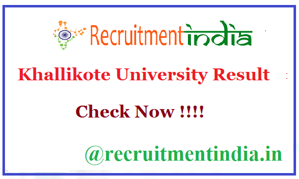 Khallikote University Result