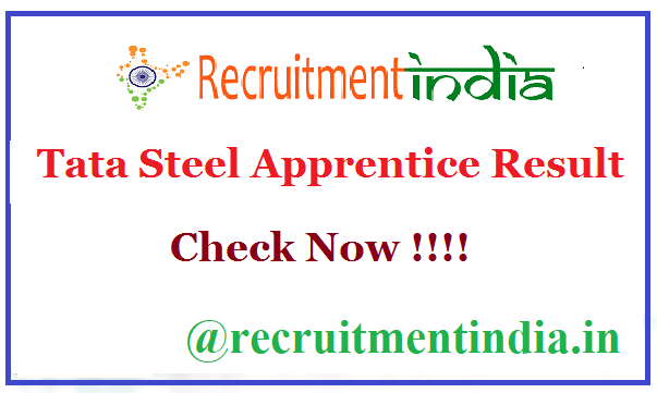 Tata Steel Apprentice Result
