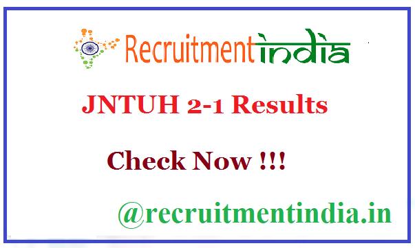 JNTUH 2-1 Results