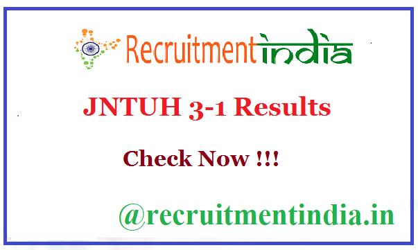 JNTUH 3-1 Results