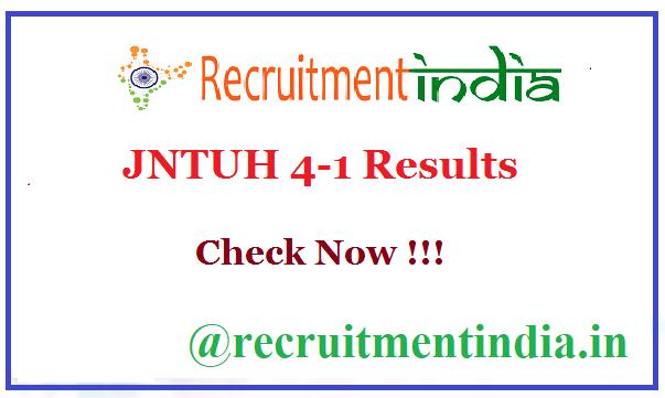 JNTUH 4-1 Results