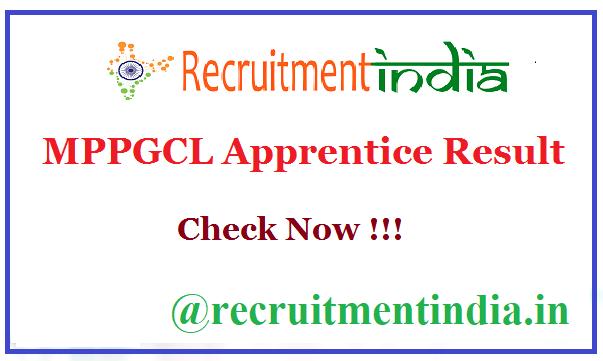 MPPGCL Apprentice Result