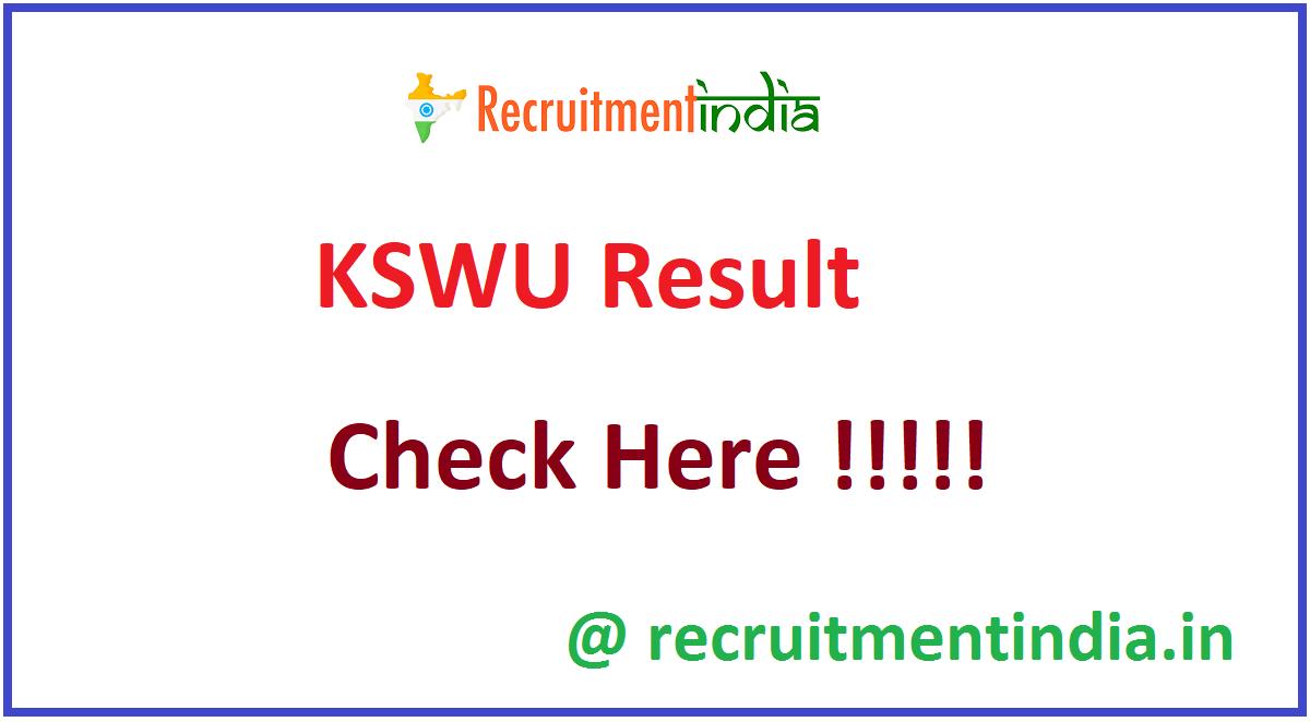 KSWU Result