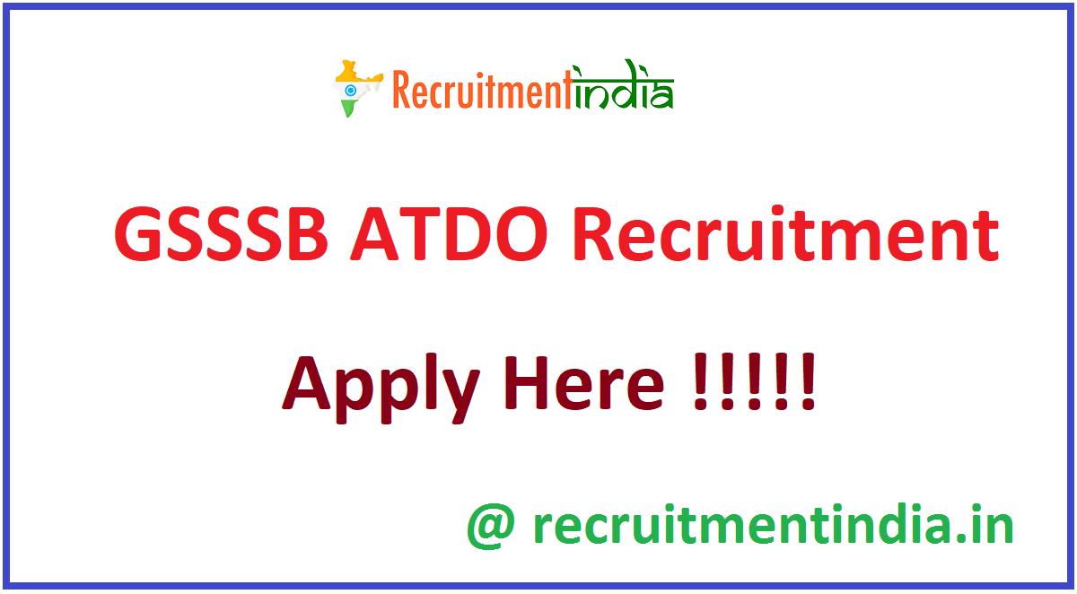 GSSSB ATDO Recruitment