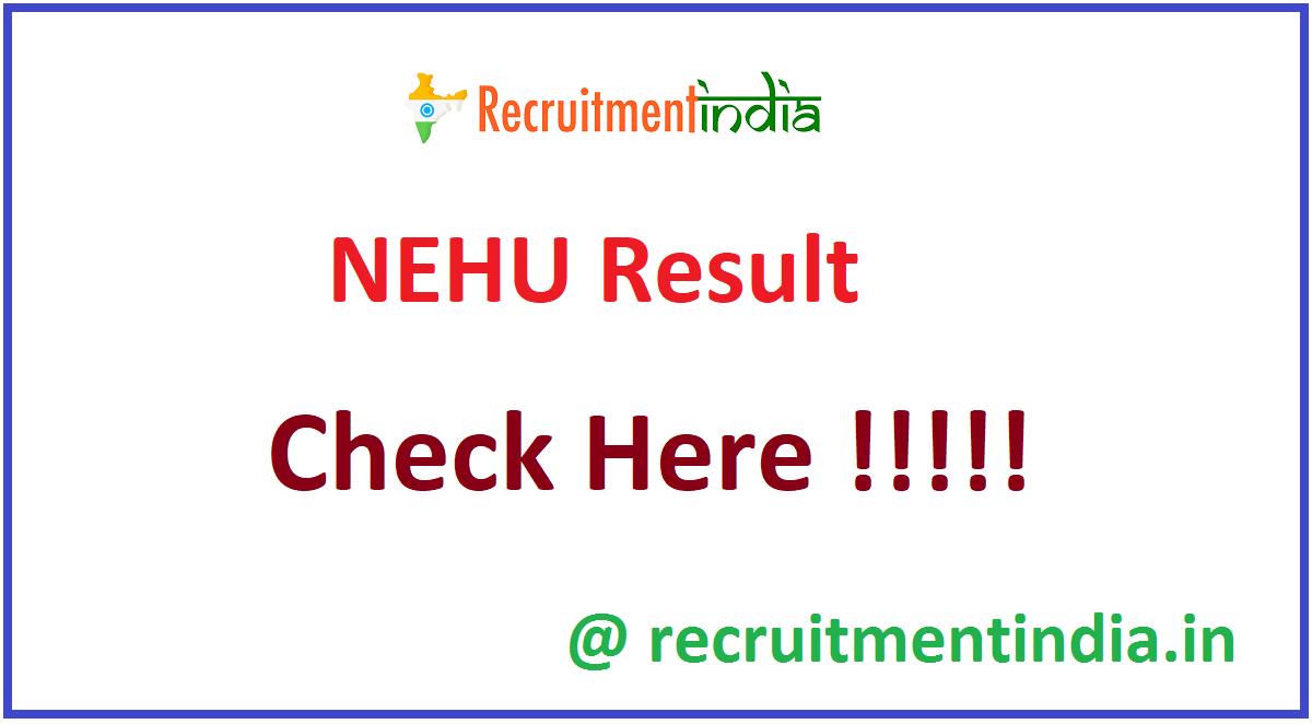 NEHU Result