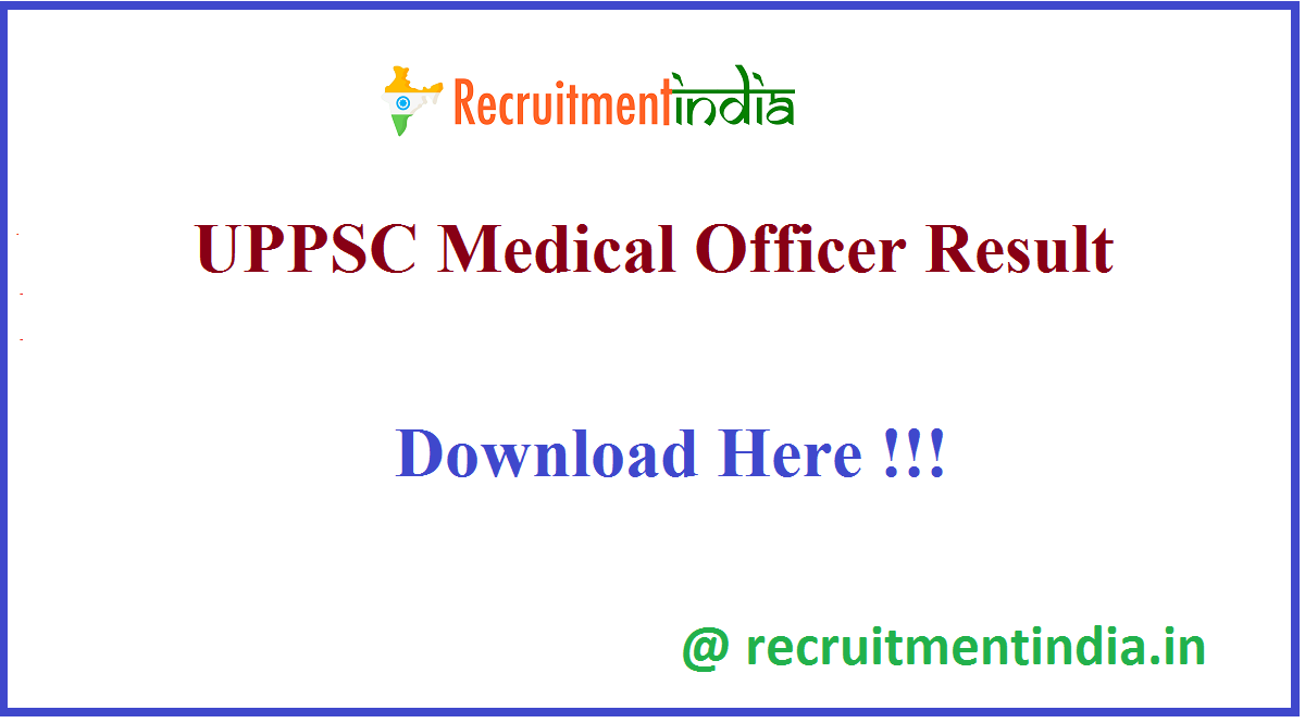 UPPSC Medical Officer Result