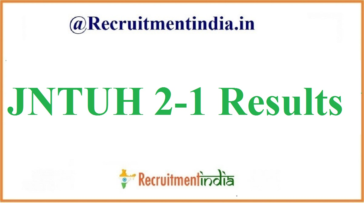JNTUH 2-1 Results