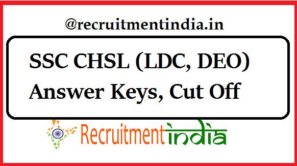 SSC CHSL Answer Keys