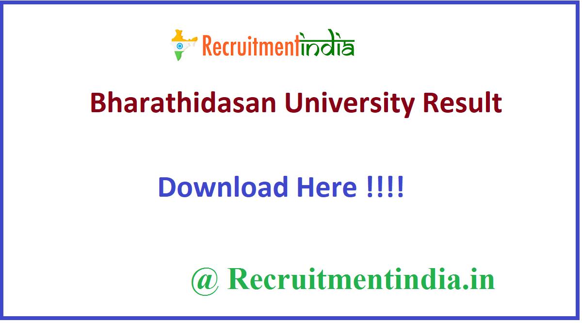 Bharathidasan University Result